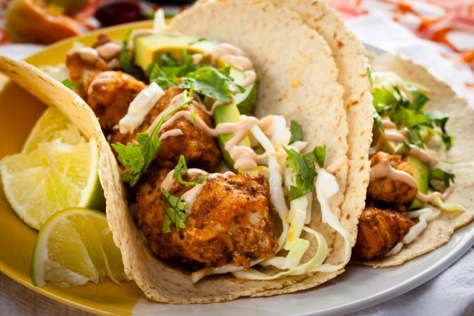 Real good fish recipe charred spiced bonito tacos for Good fish for fish tacos