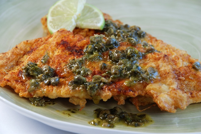 Real good fish recipe petrale sole with lemon caper butter for Lemon butter caper sauce for fish