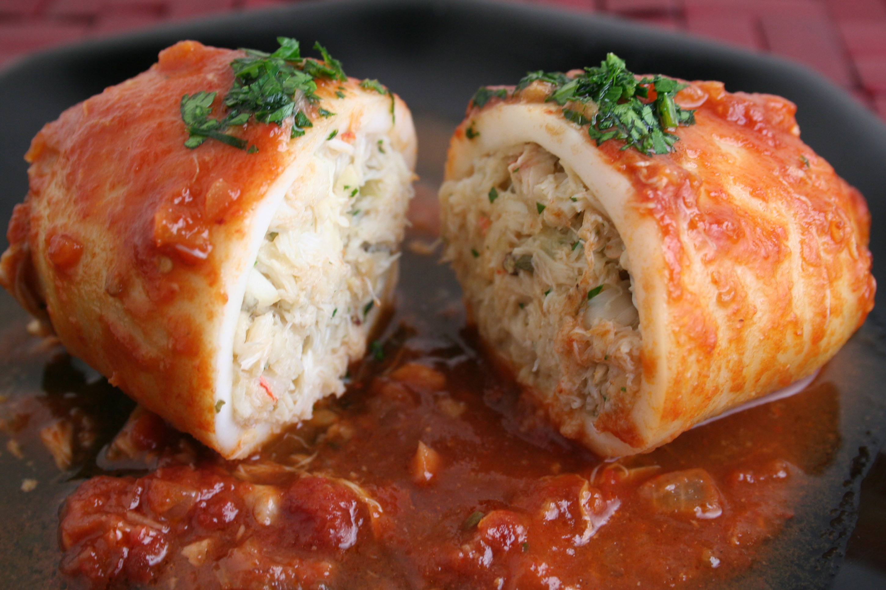 real good fish recipe baked stuffed calamari